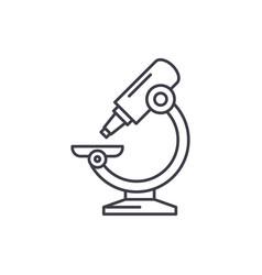laboratory microscope line icon concept vector image