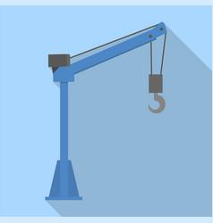 lifting crane icon flat style vector image