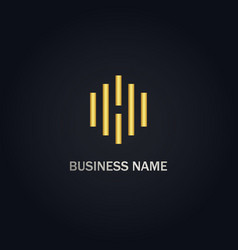 line business logo vector image
