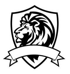 lion aggry king drawing black amp white vector image