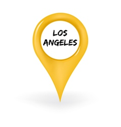 Location Los Angeles vector