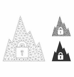 locked tunnel mesh network model vector image
