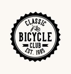 Logo design classic bicycle club est 1985 vector