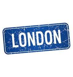 London blue stamp isolated on white background vector