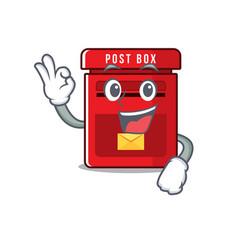 Mailbox clings okay to cute cartoon wall vector