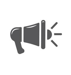 megaphone gray line icon loudspeaker speaker vector image