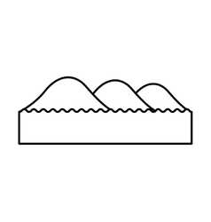 mountain with lake emblem isolated icon vector image