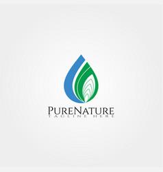 Nature purity icon template creative logo design vector
