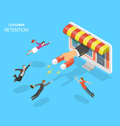 Online store customer retention vector