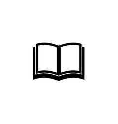 Open school book textbook icon simple flat sign vector