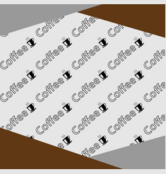 Pattern coffee background vector
