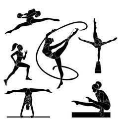 performance gymnasts icon sport vector image