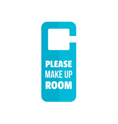 please make up room hanger icon flat style vector image