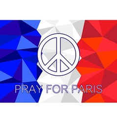 Pray for Paris with Peace symbol vector