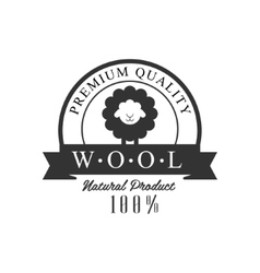 Quality Wool Product Logo Design vector image