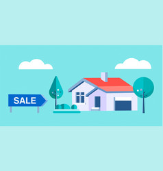 Real estate agency sells a private house vector