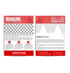 Red brochure design flyer template vector