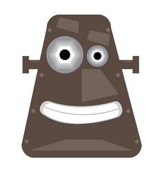 Robot toy head vector