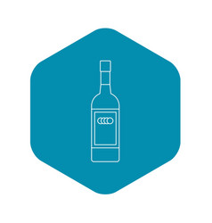 Russian vodka bottle icon outline style vector
