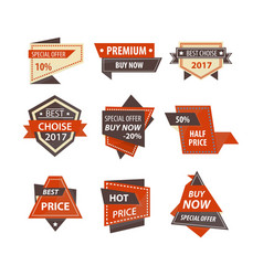sale and price discount tags for shopping vector image
