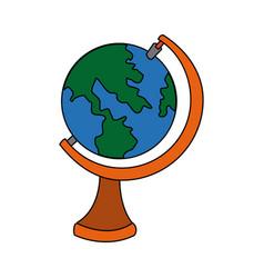 School globe map atlas study element vector