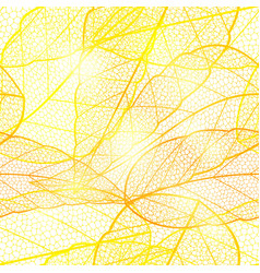 seamless bright golden autumn leaf background vector image