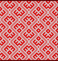 seamless knitting patternbased on traditional rus vector image