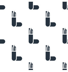 seamless pencil case pattern education symbol vector image
