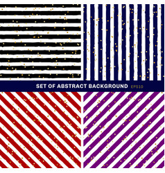 set of abstract black blue red purple white vector image