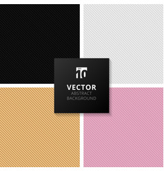set of abstract black white gold pink gradient vector image