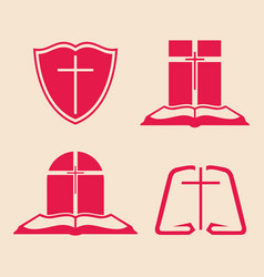 set of logos for the church vector image