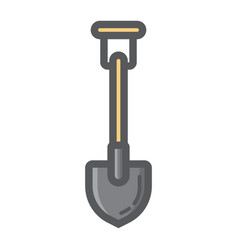 shovel filled outline icon build and agricultural vector image