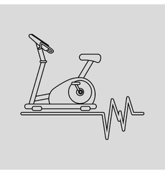 static bike machine gym rate background icon vector image