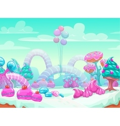 Sweet world cartoon vector image