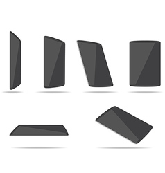 Tablet computers different foreshortening vector