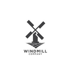 windmill logo design template vector image