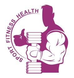 bodybuilder hand vector image