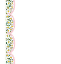 daisy border vector image vector image
