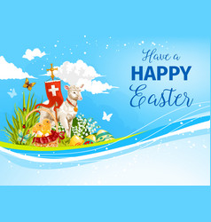 easter paschal passover lamb greeting card vector image vector image