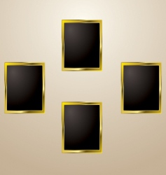 gold picture frame vector image vector image