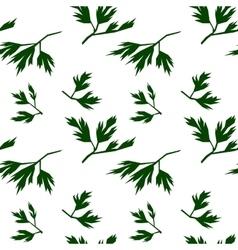 Leaf seamless pattern parsley vector image