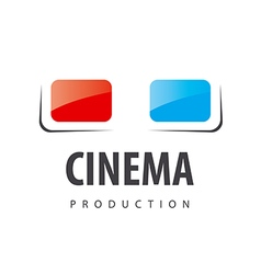 logo glasses for viewing 3D movies vector image