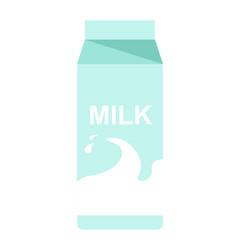 milk paper pack with milky splash flat vector image