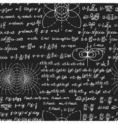 Physical seamless pattern on blackboard vector image vector image