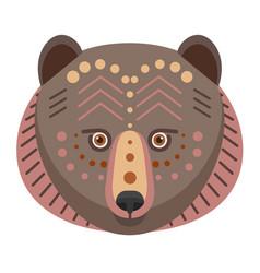 bear head logo decorative emblem vector image