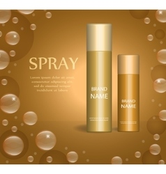 Realistic spray package template for your design vector image
