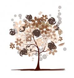 chocolate tree beautiful vector image vector image