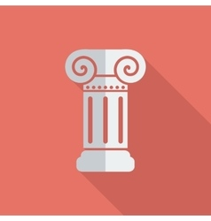 Column single icon vector image