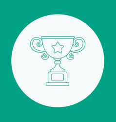 cup contour icon on green background contour vector image vector image