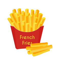 fast food french fries cartoon flat style vector image